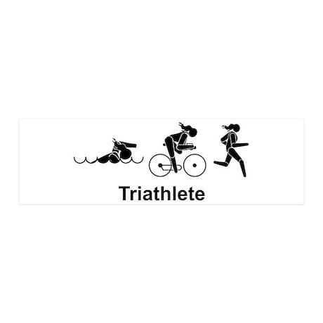 Ladies' Triathlete 20x6 Wall Peel