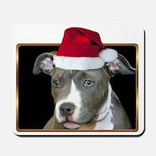 Christmas Pitbull Pup Mousepad