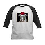 Pitbull christmas Baseball Jersey