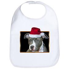 Christmas Pitbull Pup Bib