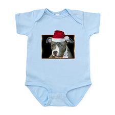 Christmas Pitbull Pup Infant Bodysuit