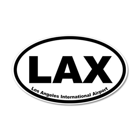 Los Angeles International Airport 20x12 Oval Wall