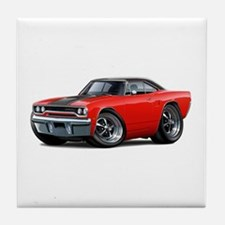 1970 Roadrunner Red Car Tile Coaster