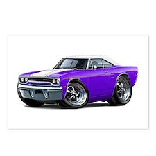 1970 Roadrunner Purple-White Car Postcards (Packag