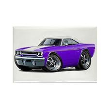 1970 Roadrunner Purple-White Car Rectangle Magnet