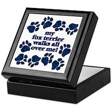 Fox Terrier WALKS Keepsake Box