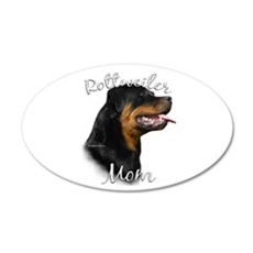 Rottweiler Mom2 20x12 Oval Wall Peel