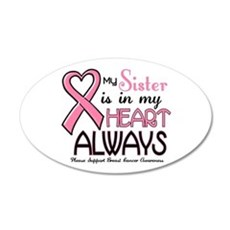 In My Heart 2 (Sister) PINK 20x12 Oval Wall Peel