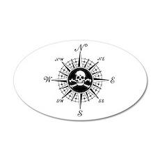 Compass Rose II 20x12 Oval Wall Peel