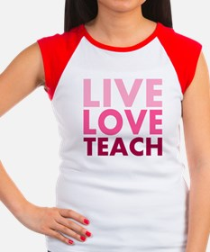 Live Love Teach Women's Cap Sleeve T-Shirt