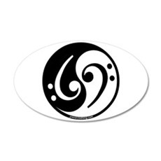 Yin Yang Bass Note 20x12 Oval Wall Peel