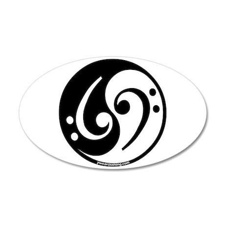 Yin yang bass note 20x12 oval wall peel by admin cp5625675 for Table yin yang basse