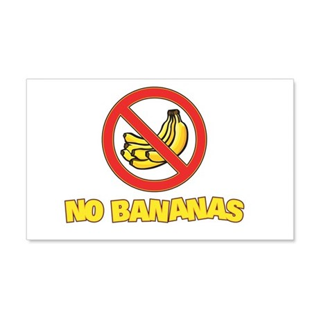 NO BANANAS 20x12 Wall Peel