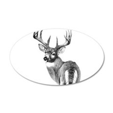 Deer 20x12 Oval Wall Peel
