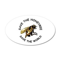 Save The Bees 20x12 Oval Wall Peel