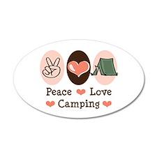 Peace Love Camping 20x12 Oval Wall Peel