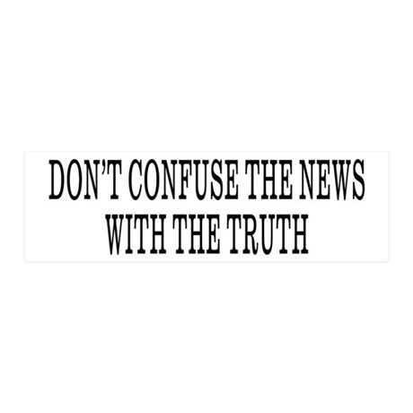 Don't Confuse The News 20x6 Wall Peel