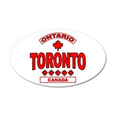 Toronto Ontario 20x12 Oval Wall Peel