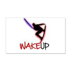 Wake Up Red/Purple 20x12 Wall Peel
