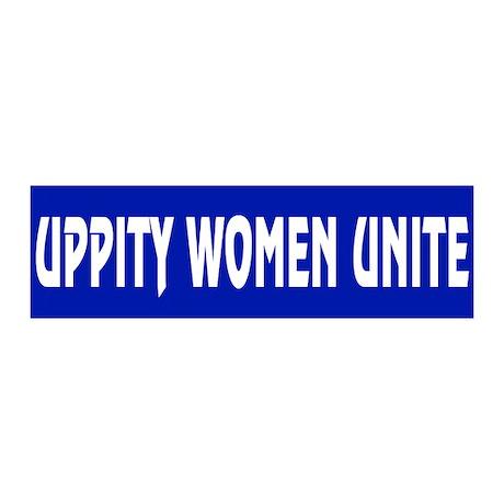 UPPITY WOMEN UNITE 36x11 Wall Peel