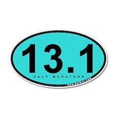 Half Marathon 13.1 Miles 20x12 Oval Wall Peel
