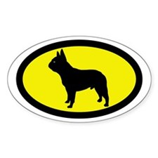 French Bulldog Oval Decal