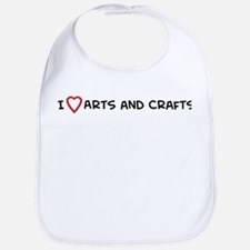 I Love Arts and Crafts Bib