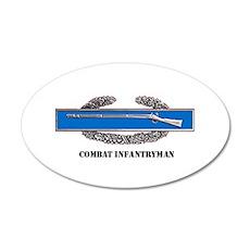 Combat Infantryman's Badge 20x12 Oval Wall Peel