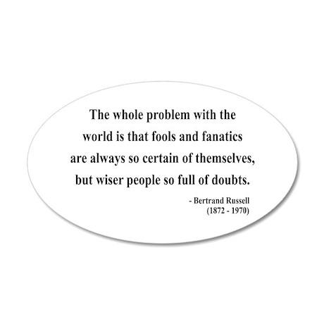 Bertrand Russell 2 35x21 Oval Wall Peel