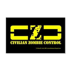 """""""Civillian Zombie Control"""" Logo Sticker"""