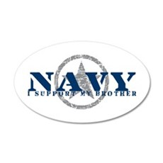 Navy - I Support My Brother 20x12 Oval Wall Peel