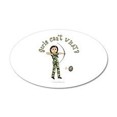 Light Camouflage Archery 20x12 Oval Wall Peel
