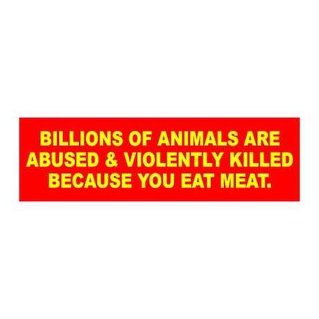 ANIMALS KILLED 20x6 Wall Peel