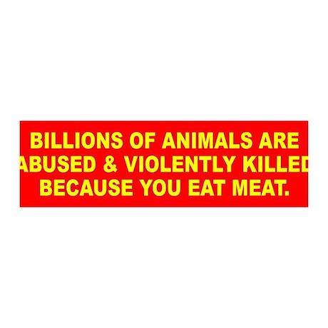 ANIMALS KILLED 36x11 Wall Peel