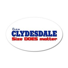 """""""Team Clydesdale"""" 20x12 Oval Wall Peel"""