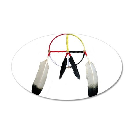 Medicine Wheel 20x12 Oval Wall Peel