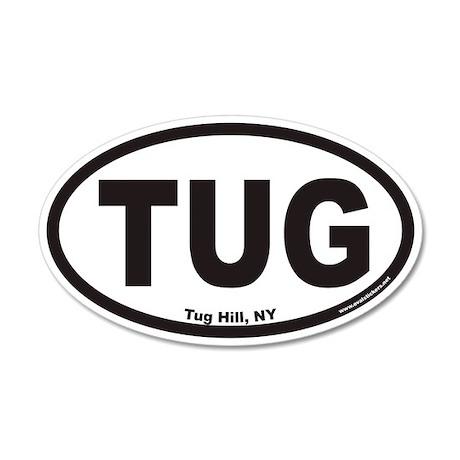 Tug Hill New York TUG Euro 35x21 Oval Wall Peel