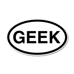 Geek 20x12 Oval Wall Peel