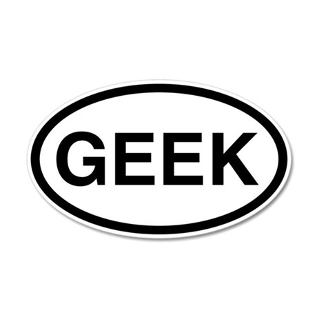 Geek 35x21 Oval Wall Peel