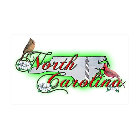 North Carolina 35x21 Wall Peel