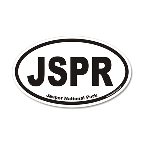 JSPR Jasper National Park Euro 20x12 Oval Wall Pee