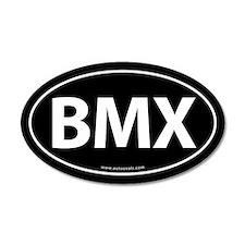 BMX Traditional Auto Sticker -Black (Oval)
