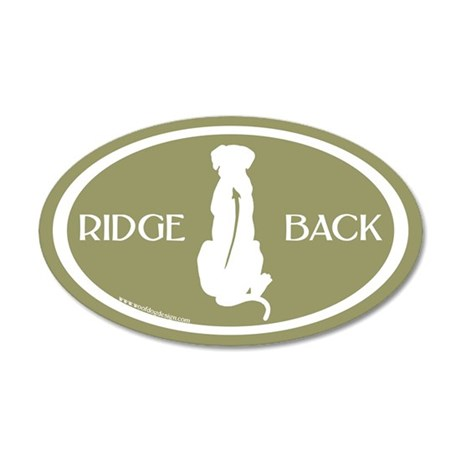 Ridgeback Oval W/ Text (white/sage) 20x12 Oval Wal