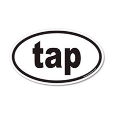 tap euro oval sticker