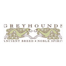 Knotwork Greyhounds 36x11 Wall Peel
