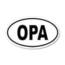 OPA 20x12 Oval Wall Peel