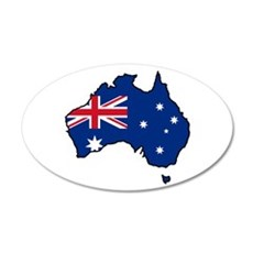 Cool Australia 20x12 Oval Wall Peel