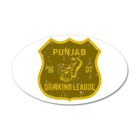 Punjab Drinking League 35x21 Oval Wall Peel
