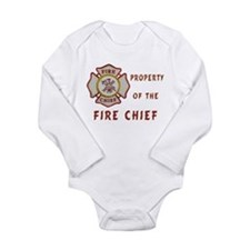 Fire Chief Property Long Sleeve Infant Bodysuit