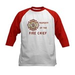 Fire Chief Property Kids Baseball Jersey